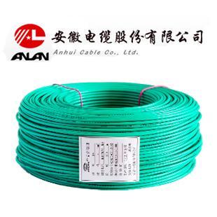 安缆 绿色 BV6 平方国标铜芯电线 单芯铜线 100米