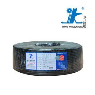 上海玖开黑色RVV3*0.5国标足米铜芯电线100米