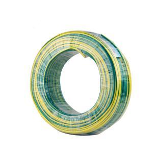 远东电缆 黄绿BVR6平方国标家装进户铜芯电线单芯多股软线 100米