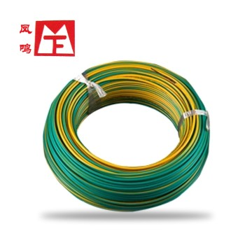 凤鸣电缆黄绿色 BVR6国标铜芯电线100米