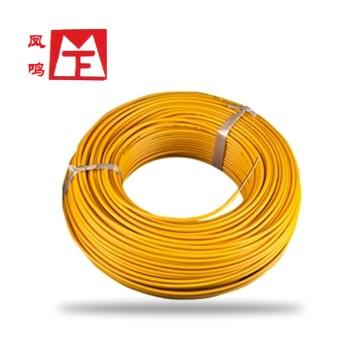 凤鸣电缆黄色BVR4国标铜芯电线100米