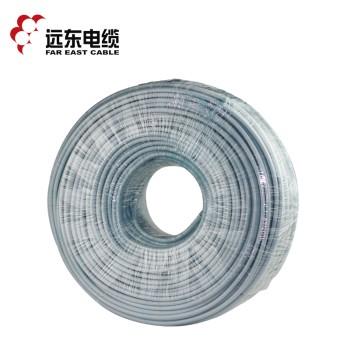 远东电缆 RVV2*2.5平方国标电源信号传输用2芯铜芯软护套线 白色 100米