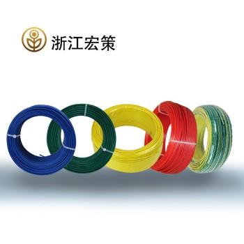 浙江宏策电缆黄色 BV2.5平方国标铜芯线100米