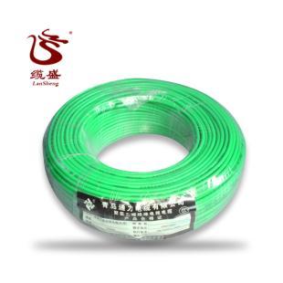 青岛通力电线绿色 BV-4平方 国标正品 家装单股硬线铜芯线 包邮