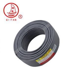 上海起帆灰色HSYVP-6-3 4*2*0.57单屏蔽六类双绞网线100米4*2*0.57