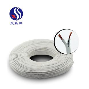 河南兴胜先胜牌白色 RVV2*0.3多股铜芯软护套线 电源信号线 国标0.3平方2芯 100米