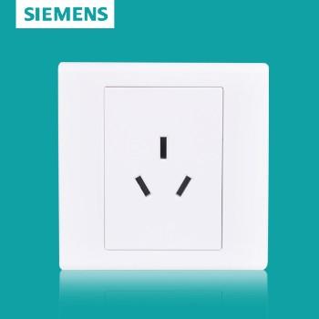 西门子开关插座面板 品宜系列 三孔插座 10A