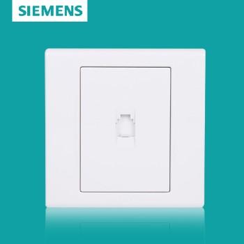 西门子开关插座面板 品宜系列 一位电话插座