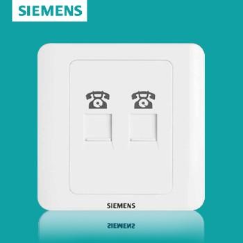 西门子开关插座面板 远景白系列 两位电话插座