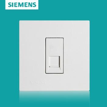 西门子开关插座面板 灵致白系列 电脑插座