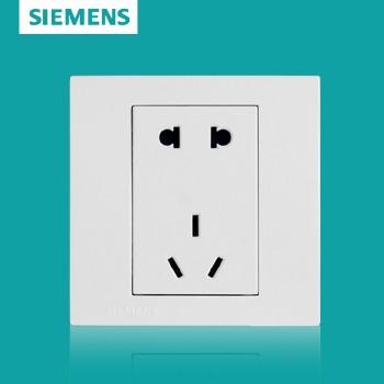 西门子开关插座面板 灵致白系列 二三极插座 ,五孔插座 10A