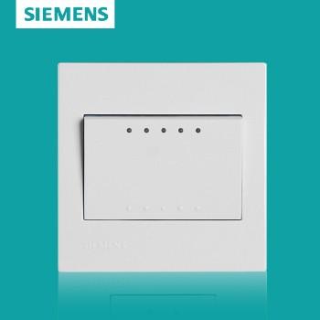 西门子开关插座面板 灵致白系列 一开单控带荧光开关