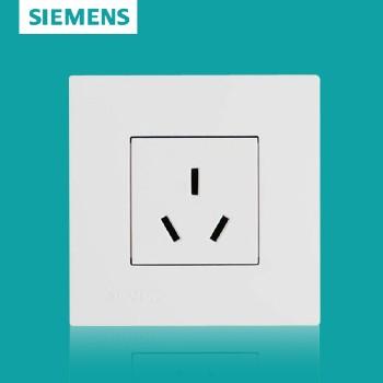 西门子开关插座面板 灵致白系列 三孔插座 16A,空调用插座