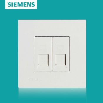 西门子开关插座面板 灵致白系列 双电脑插座