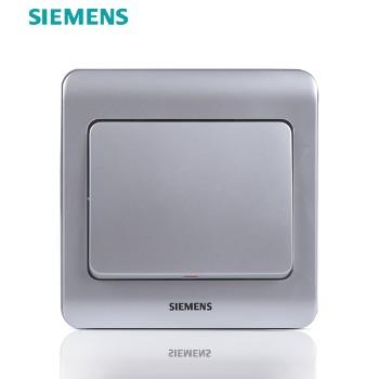 西门子开关插座面板 远景银系列 一开单控开关(无荧光指示)