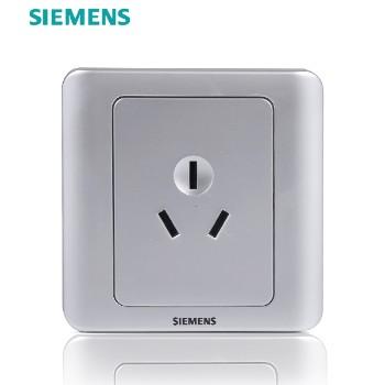 西门子开关插座面板 远景银系列 三孔插座 16A 空调用插座