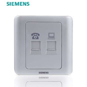 西门子开关插座面板 远景银系列 电话电脑插座