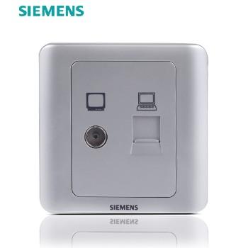 西门子开关插座面板 远景银系列 电视电脑插座