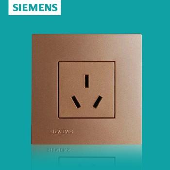 西门子开关插座面板 灵致金系列 三孔插座 10A