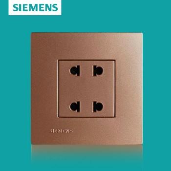 西门子开关插座面板 灵致金系列 四孔插座 10A