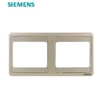 西门子开关插座面板 远景金系列 双联边框