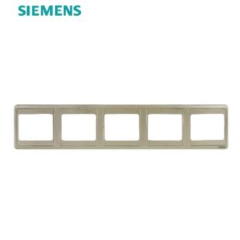 西门子开关插座面板 远景金系列 五联边框