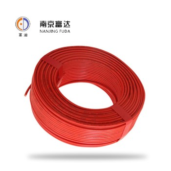 富达电线电缆红色 BVR1.5平方国标铜芯电线100米
