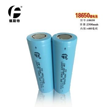 官方直销福斯特长江18650锂电池 移动电源强光等平头数码2500mah