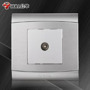 公牛插座 G19系列 电视插座 (太空银)