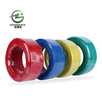 河北鹏润红色 BV1.5电线电缆国标铜芯线100米