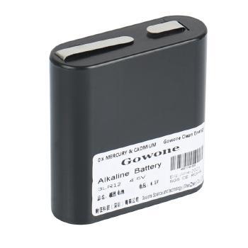 Gowone购旺 无汞环保碱性电池出口简装 3LR12 仪表矿灯电池 4.5V