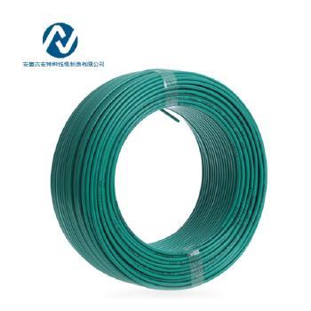 吉安特种线缆RV1.5平方国标铜芯电线多股软线100米 黄绿双色