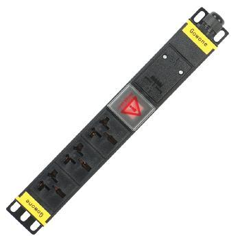 Gowone购旺 PDU机柜插座   工业插排  非常规接线板 工程插座 配线自接 3位 16A万用孔 WD3 3米 美标插头