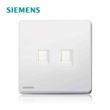 西门子开关插座面板 睿致炫白系列 电脑电话插座