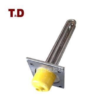 台达 干烧水烧法兰电热管6KW-12-干燥机模温机用发热管 尺寸120*120