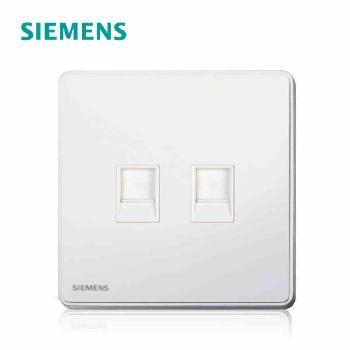 西门子开关插座面板  睿致白系列二位双电脑插座