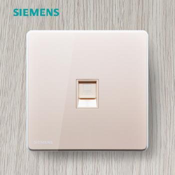 西门子开关插座面板 睿致金系列 电脑插座