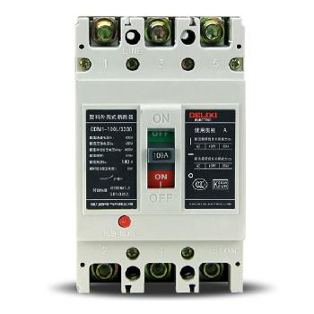 德力西电气 框架式断路器(万能式);CDM1-100L/3300 100A