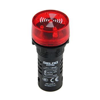 德力西电气 按钮开关;LAY5s-FM 断续闪烁式 AC 220V 红(蜂鸣器)