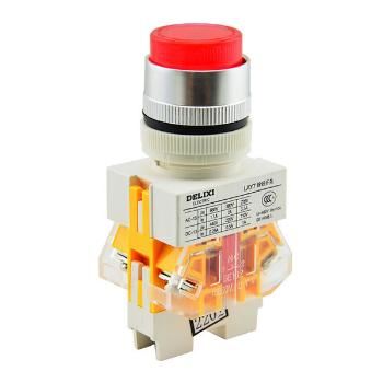 德力西电气 按钮开关;LAY7-11DZS 380V 氖灯 红