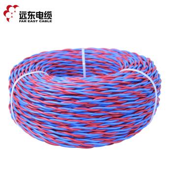 远东电线电缆 RVS2*1.5 2芯红/蓝铜芯双绞线100米