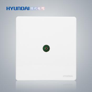 现代电气 开关插座面板 E50珍珠白系列 一位电视插座