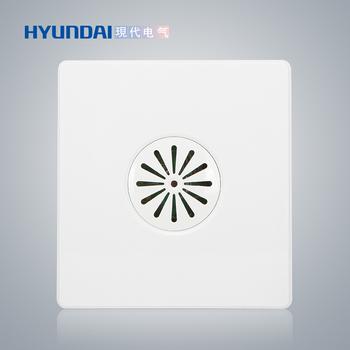 现代电气 开关插座面板 E50珍珠白系列 声光控开关(带消防、四线制)