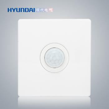 现代电气 开关插座面板 E50珍珠白系列 一体感应开关(带消防、四线制)