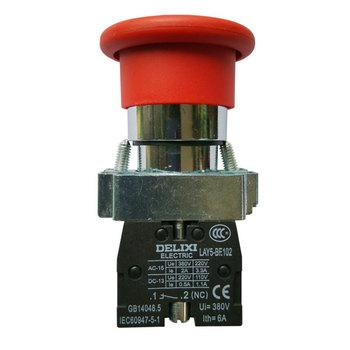 德力西电气 按钮开关;LAY5s-BS Φ40 红 1NC(标准型旋转复位式急