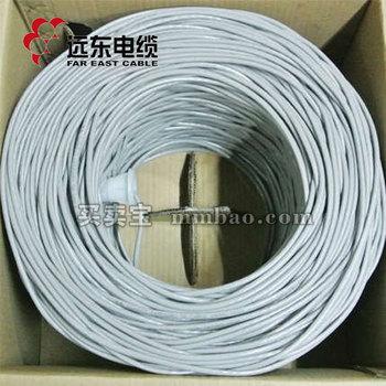 远东电缆UTP-5E网络通信电缆 浅灰色305米