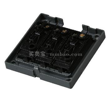 德力西电工 CD130明装开关插座 三联双控开关 三开双控开关