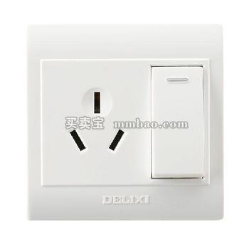 德力西电工 CD130明装开关插座 一开三孔16A 双控 空调热水器插座