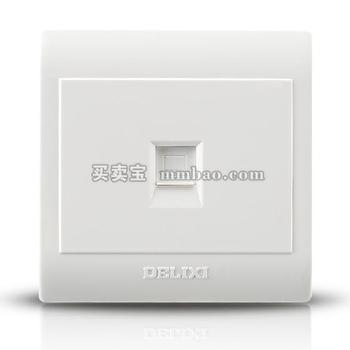 德力西CD130明装开关插座 一位电脑插座 网络插座