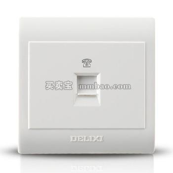 德力西CD130明装开关插座 一位电话插座